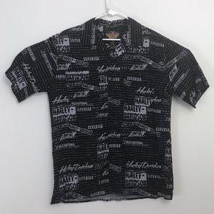 Harley-Davidson • Aloha All Over Logo Print Shirt